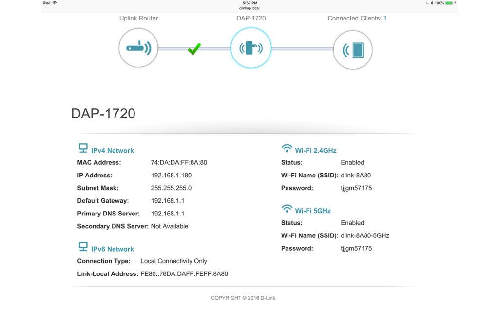 repetidor wifi DLink DAP 1720